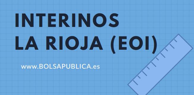 Bolsa abierta profesores interinos La Rioja