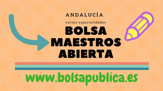 Andalucía bolsa de maestros