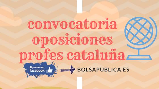 Oposiciones Cataluña Educación 2018