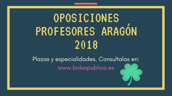 Plazas oposiciones profesores aragón