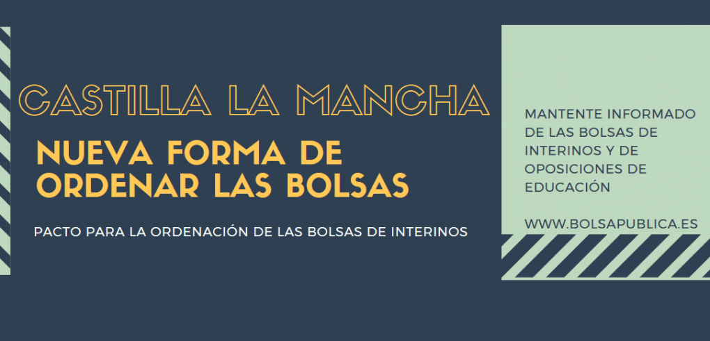 Orden bolsas de interinos de Castilla la Mancha profesores maestros