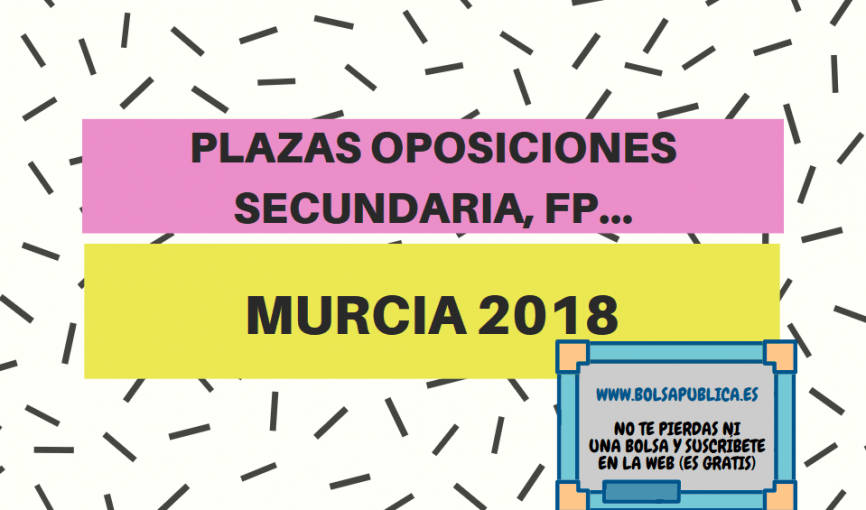 oposiciones profesores secunaria fp murcia 2018