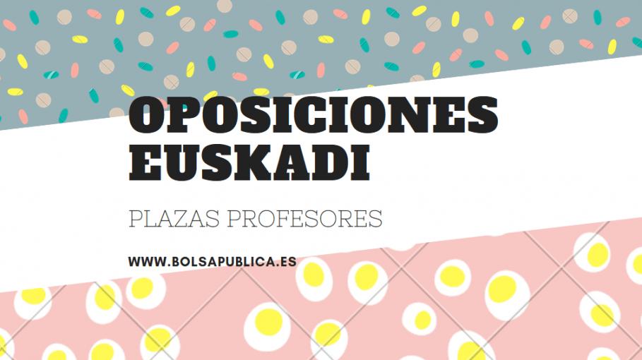 plazas oposiciones Euskadi 2018