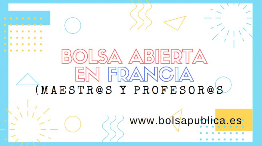 Bolsa de interinos abierta en francia profesores y maestras maestros matemáticas, lengua, biología, inglés. primaria, lengua