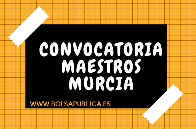 bolsa interinos maestros maestras Murcia Lorca