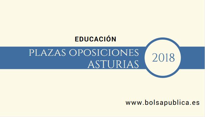plazas educación profesores asturias 2018