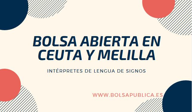 De Y Bolsa Ceuta Lengua Abierta MellilaIntérpretes Signos ulKFJ3T1c5