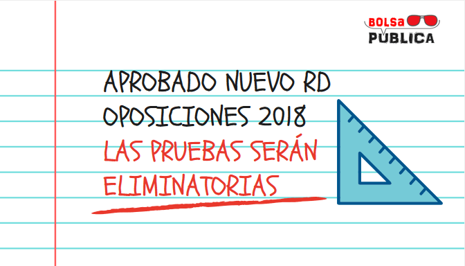 nuevo real decreo oposiciones educación 2018 cambios profesores plazas bolas