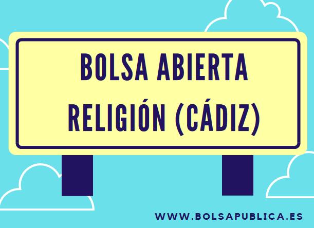 bolsa profesores religión cádiz abierta