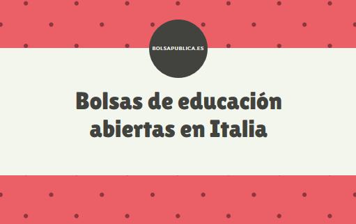 bolsa abierta de interinos profesores en italia maestros