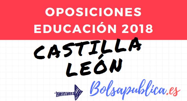 oposiciones educación castilla y león educación convocatoria profesores secundartia fp musica artes maestros