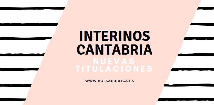 titulaciones interinos cantabria profesor maestros baremo bolsa