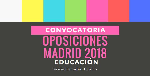oposiciones educación madrid 2018 profesores secundaria formación profesional fp