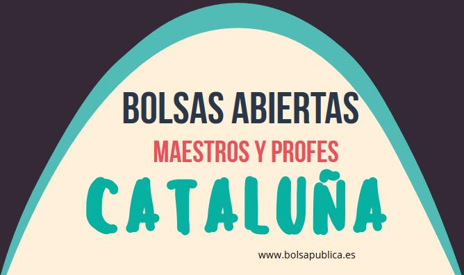 bolsa de profesores y maestros abierta en cataluña