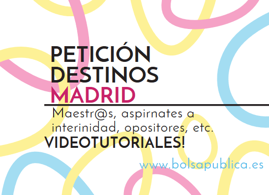 petición de destinos madrid docentes 2018
