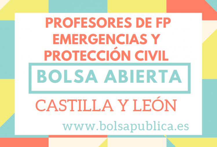 bolsa abierta profesores fp castilla león emergencias