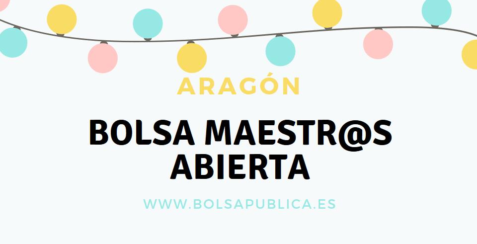 bolsa para maestros de pedagogía terapéutica en Aragón bolsa de trabajo