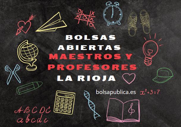 bolsa abiertas de maestros y profesores en La Rioja