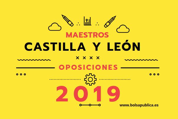 plazas maestros castilla y león oposiciones 2019