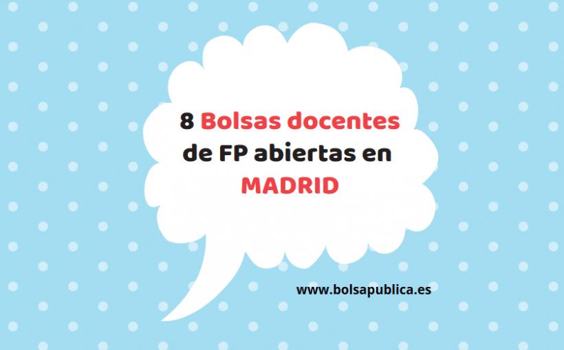 8 bolsas docentes abiertas en madrid profesores fp