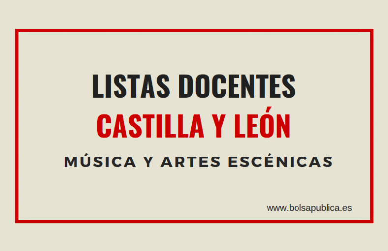 bolsa docentes musica castill ay leon interinos