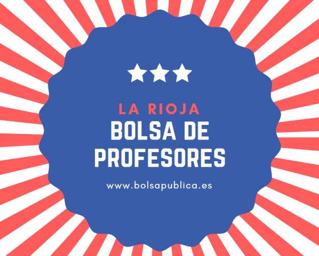 bolsas docentes en la Rioja Inscripción