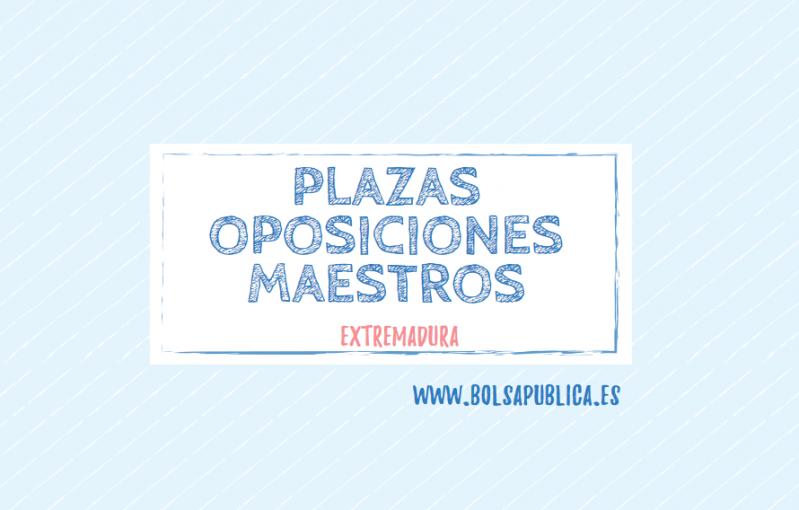 plazas oposiciones maestros 2019