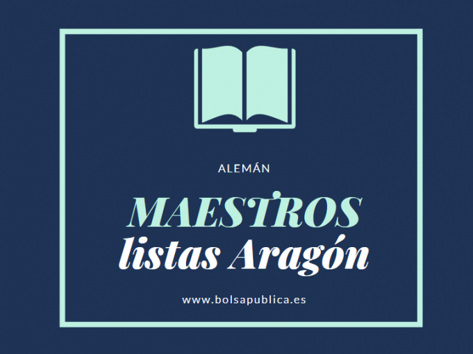 listas de maestros abiertas en Aragón (Alemán)