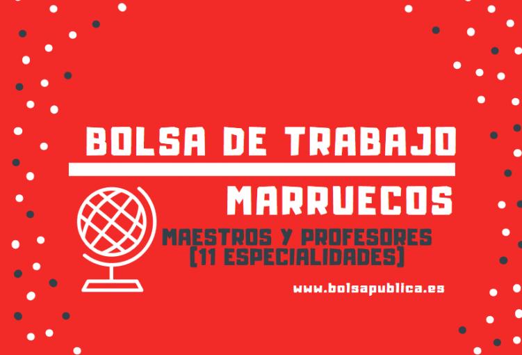 ser profesor maestro en el extranjero marruecos
