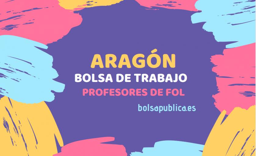 bolsa de interinos abierta para profesores de fol en Aragón