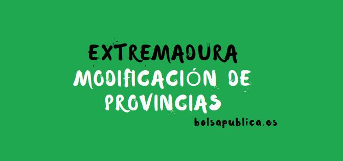 modificación de la petición de provincia interinos extremadura