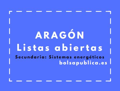 Bolsa de trabajo en Aragón: Secundaria (Sistemas Energéticos)