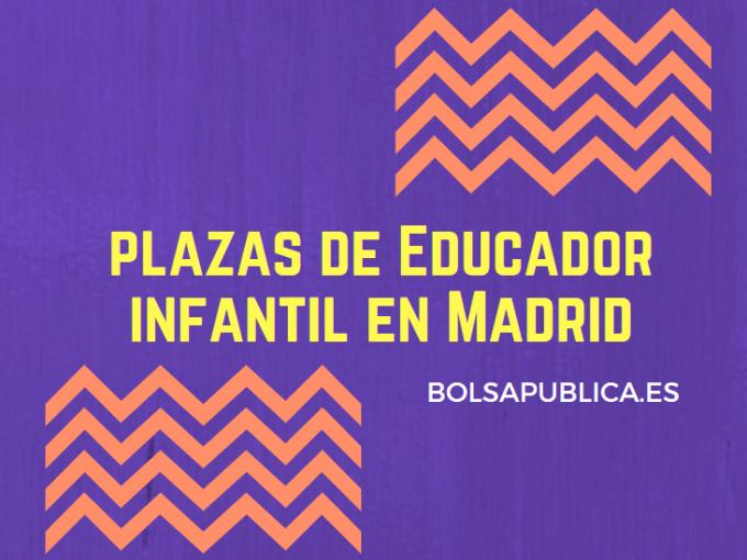 oposiciones educador infantil en madrid plazas trabajo