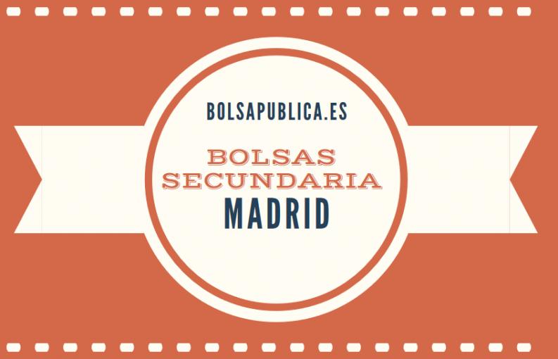 bolsa de secundaria en Madrid trabajo