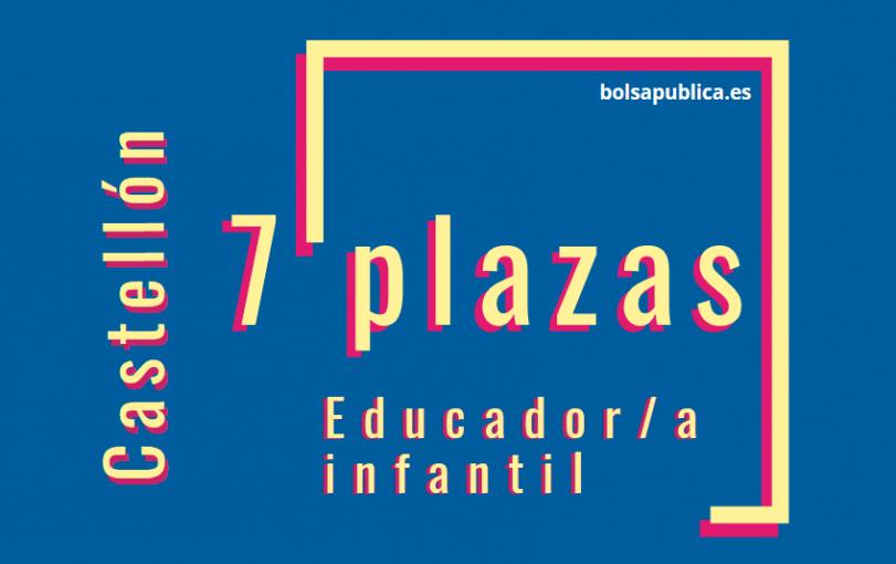 plazas infantil oposiciones valencia