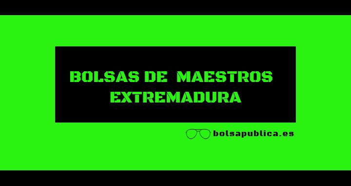 bolsa_interinos_maestros_extremadura_2019