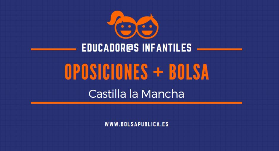 Oposiciones y bolsa de trabajo para educadores infantiles en Castilla la Mancha