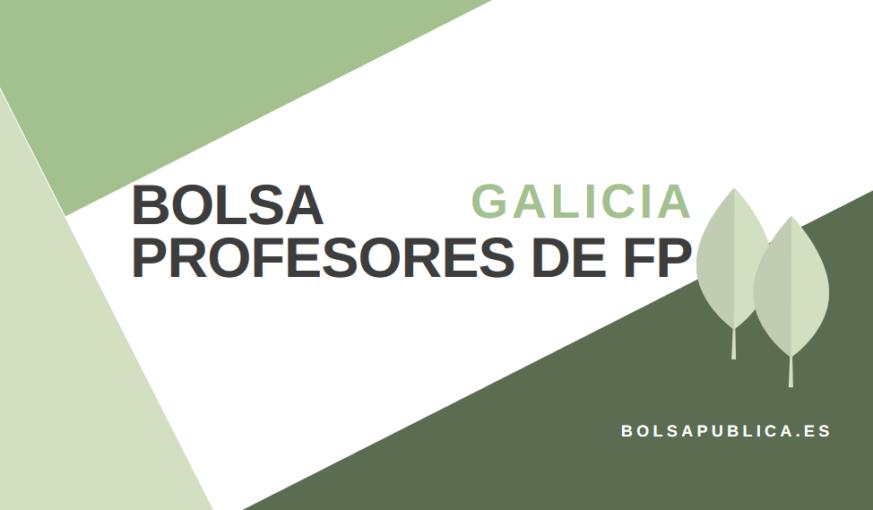 bolsa de profesores en Galicia