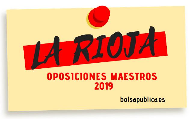 Oposiciones de Maestros en La Rioja 2019
