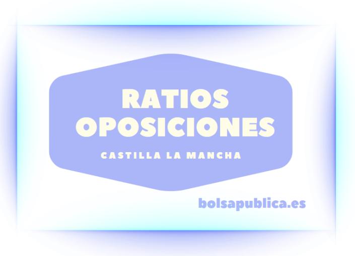 ratios oposiciones maestros castilla la mancha