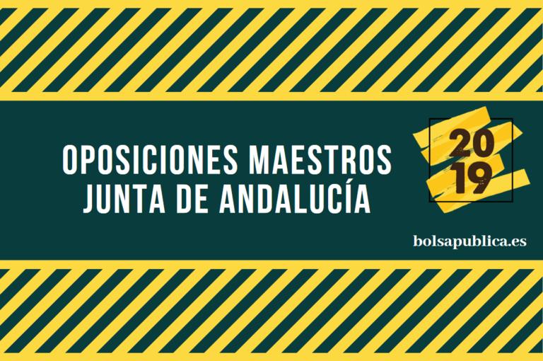 Calendario Oposiciones 2019 Andalucia.Oposiciones Maestros Junta De Andalucia 2019 Bolsapublica Es