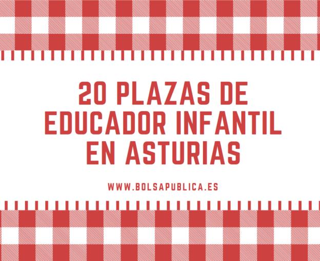 Plazas oposiciones de Educador Infantil en Asturias