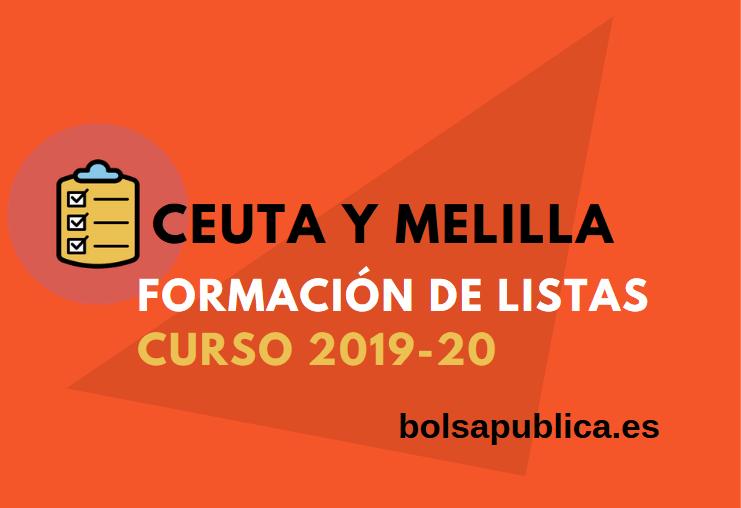 Ceuta y Melilla formación de listas de docentes interinos maestros y profesores