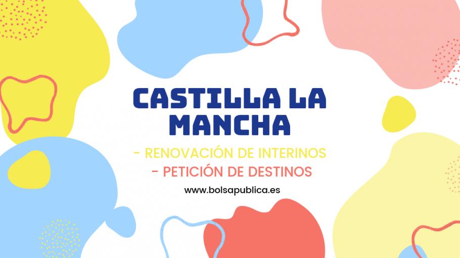 renovacion de interinos y petición de destinos para maestros y profesores de Castilla la Mancha