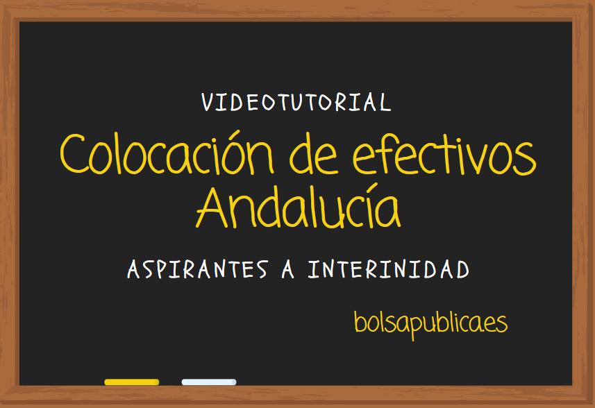 Petición de destinos Andalucía de maestros y profesores aspirantes a interinidad.