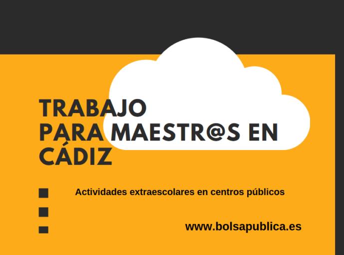 ofertas de trabajo para maestros en Cádiz