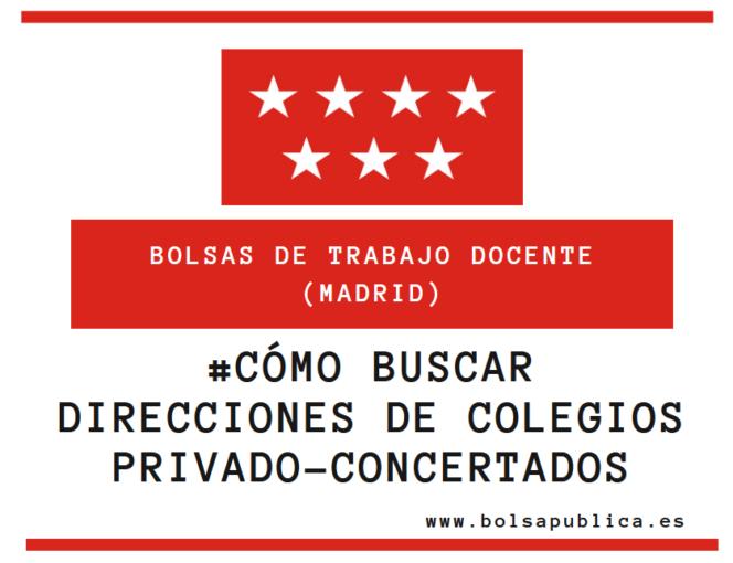 direcciones de colegios concertados y privados de Madrid