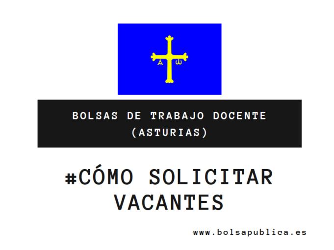Cómo pedir vacantes en las bolsas docentes de Asturias