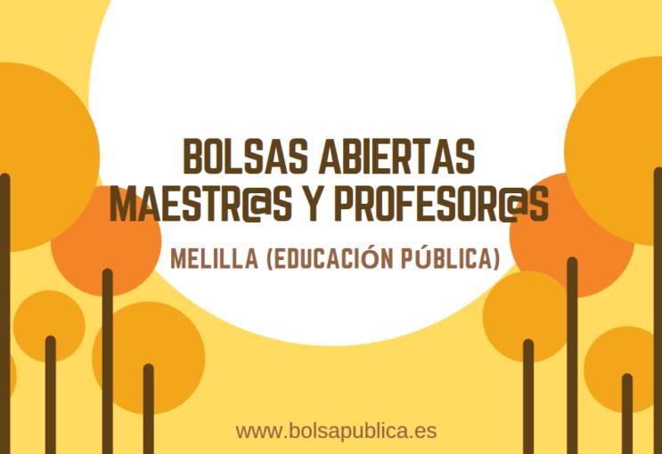 bolsas de trabajo para maestros y profesores en Melilla