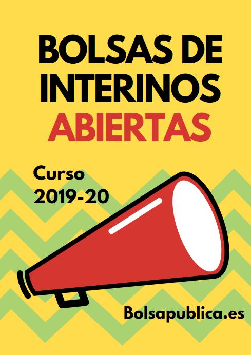 bolsa de trabajo de profesores y maestros curso 2019 2020